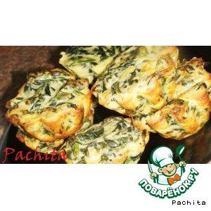 Рецепт: Маффины с сыром и шпинатом