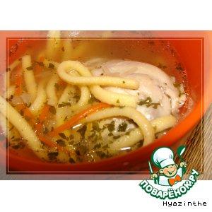 Рецепт: Луковый суп с лапшой