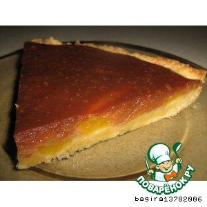 Рецепт Пирог с грушами, шоколадом и карамелью