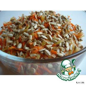 Рецепт: Салат из зелeной редьки «Редькость»