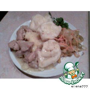 Рецепт: Штрудели с мясом и картофелем