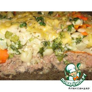 Рецепт: Запеканка с овощами, макаронами и фаршем
