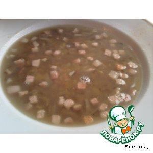 Рецепт Чечевичный суп-похлебка с беконом