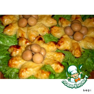"""Рецепт: Картофельные ватрушки """"Подсолнухи"""""""