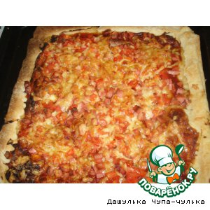 """Рецепт: Пицца """"Все просто"""""""