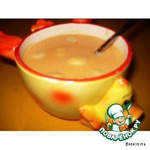 Рецепт: Сладкий тыквенный суп с ленивыми варениками