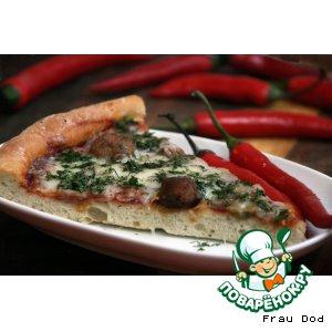 Рецепт: Пицца с мясными шариками