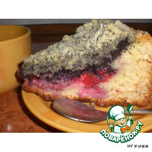 Творожный пирог с малиной – кулинарный рецепт