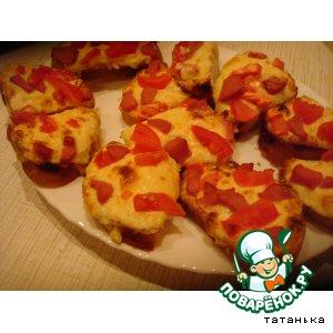 """Рецепт: Бутерброды """"Почти пицца"""""""