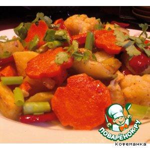 Рецепт: Овощное рагу жареное