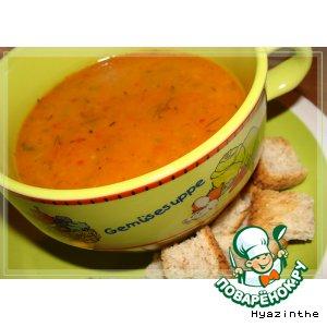 Рецепт: Суп-пюре из сладкого перца