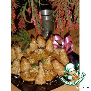 """Рецепт: Рождественское печенье с медом и орехами """"Меломакарона"""""""
