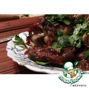 Рецепт: Курица с финиками в портвейне