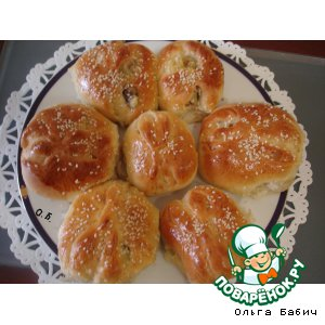 Рецепт: Булочки с соусом Манты
