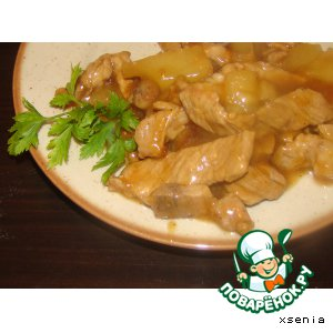 Рецепт: Свинина с ананасом