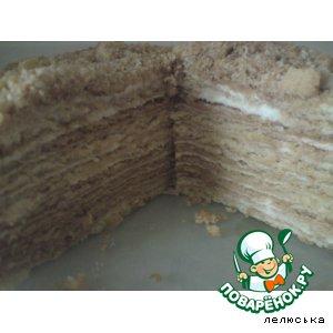 Рецепт: Медовый торт с творожным кремом