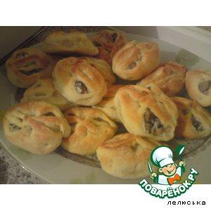 Рецепт: Пирожки с вешенками