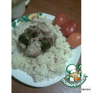 Ароматный рис с мясным ассорти под соусом