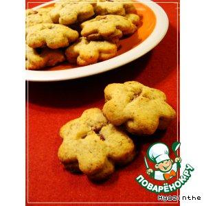 """Рецепт: Печенье """"Клюквенные цветы"""""""