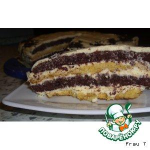 Рецепт: Торт День-Ночь