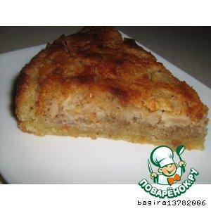 Рецепт: Яблочный пирог с миндальным кремом