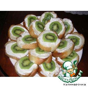 Рецепт: Острые бутерброды с киви