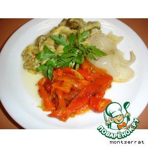 Рецепт: Салат из печеных овощей Эскаливада