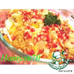 Рецепт: Салат из пекинской капусты с форелью
