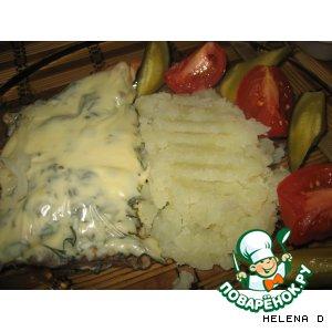 Рецепт: Тилапия запеченная под укропным одеялом и на луковой перине