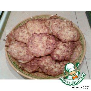 Рецепт: Оладьи кабачковые Ладушки-оладушки