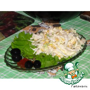 Рецепт: Салат из пекинской капусты с мясом криля