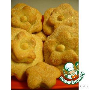 Рецепт: Печенье на капустном рассоле «Пока цветочки…»