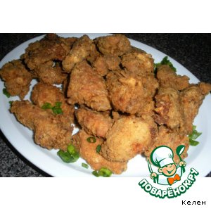 Рецепт: Куриные крылышки во фритюре