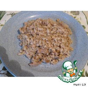Рецепт Перловая каша с грибами и курочкой
