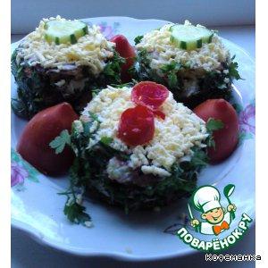 Рецепт: Закусочные пирожные из кабачка