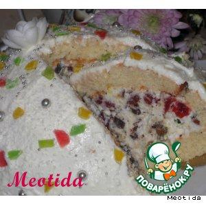 Рецепт: Торт-десерт Снежное лакомство