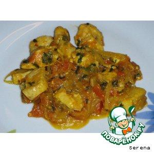 Рецепт: Курица по-индийски