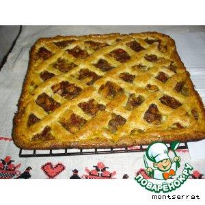 Рецепт Полуоткрытый пирог с баклажанным фаршем