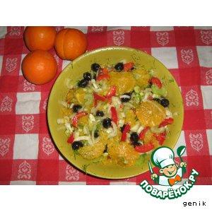 Рецепт: Апельсиновый салат