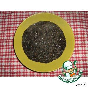Рецепт: Ризотто с чернилами каракатицы