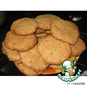 Рецепт: Настоящее овсяное печенье
