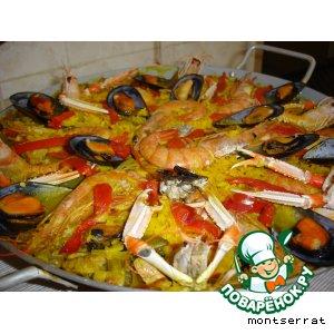Рецепт: Паэйя из морепродуктов