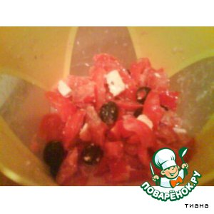 """Рецепт: Салат овощной """"Красный"""""""