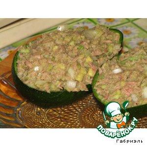 Рецепт Салат из авокадо и тунца