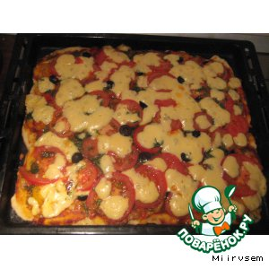 Рецепт: Пицца постная Новогодняя