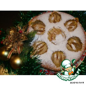 Рецепт: Шарлотка Яблоки на снегу