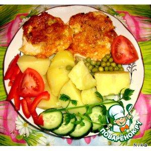 Рецепт: Куриное филе обжаренное в сыре
