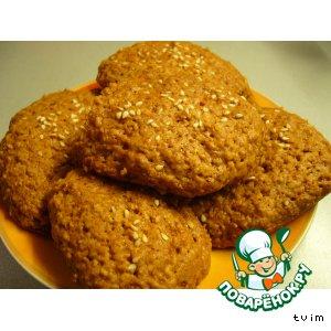 Рецепт: Овсяное печенье на сметане Медовички