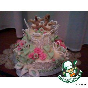 Рецепт: Аматорский свадебный торт