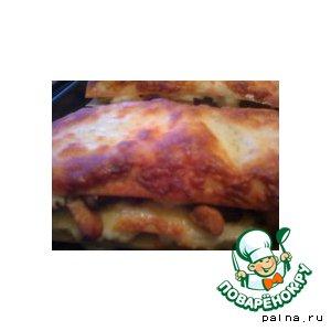 Рецепт: Лазанья с курицей и грибами